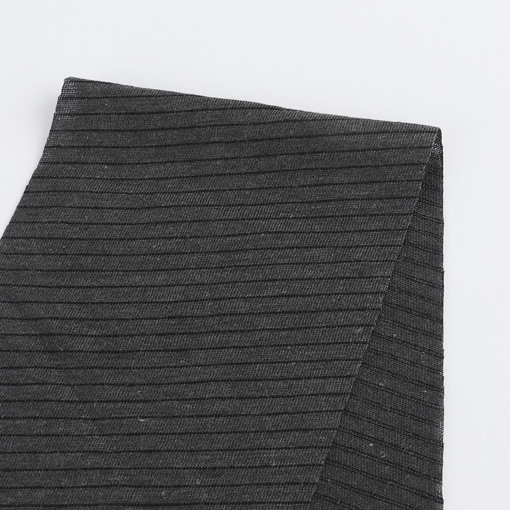 Cotton / Poly Fine Stripe Jersey - Gunmetal / Black - Buy online at The Fabric Store ?id=16446247272529