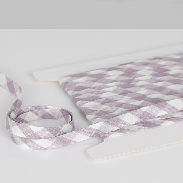 Gingham Linen Bias Binding - Dusky Orchid?id=28049839489105
