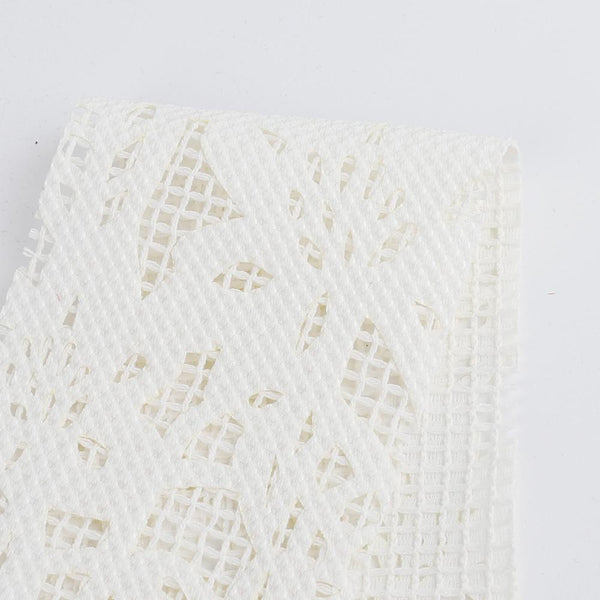 Floral Burnout Mesh - Ivory - buy online at The Fabric Store