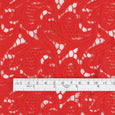 Guipure Cotton Lace - Red - Buy online at The Fabric Store