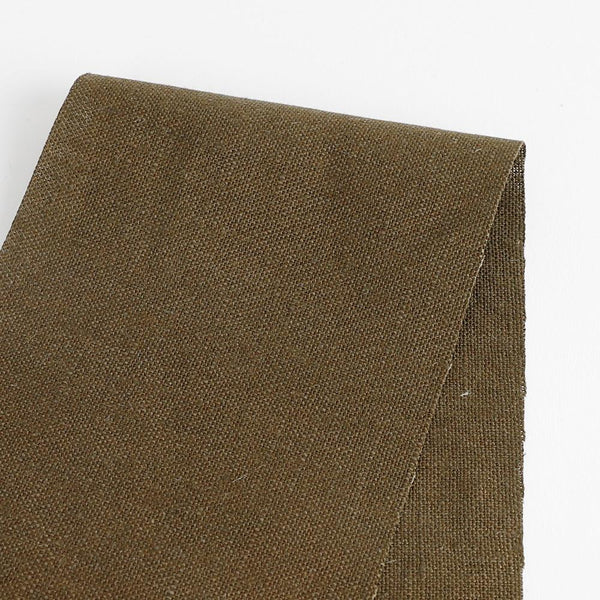 Heavyweight Linen - Deep Olive