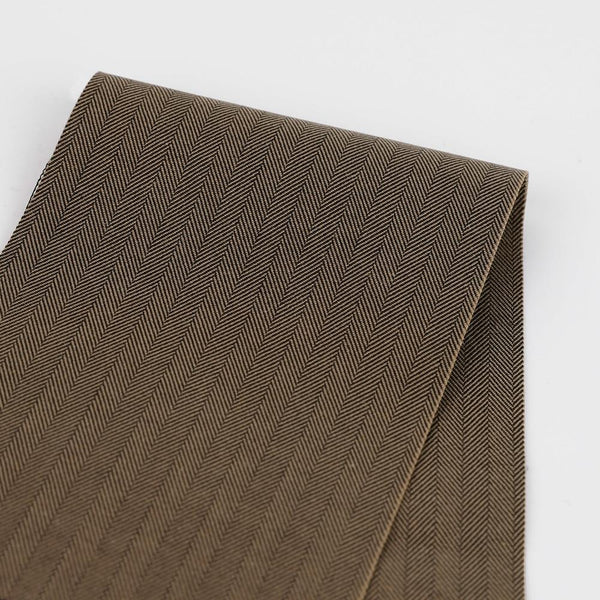 Heavyweight Stretch Cotton Herringbone - Cocoa - buy online at The Fabric Store