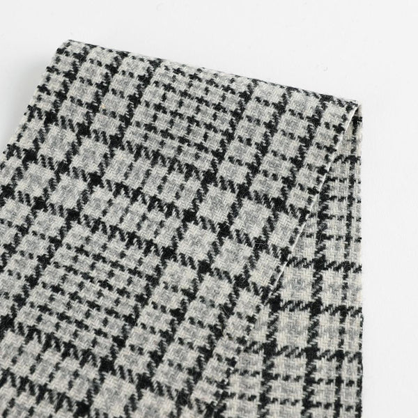 Japanese Glen Check Wool - Grey ?id=15857916870737