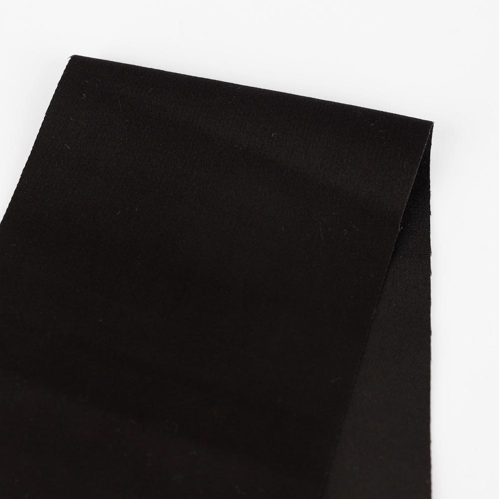 Japanese Stretch Peached Cotton / Modal - Black