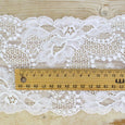 Wide French Stretch Lace Trim - White - buy online at The Fabric Store ?id=7721287778385