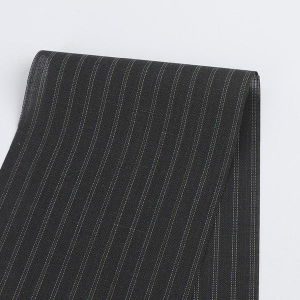 Linen Blend Bernie Pinstripe - Grey - buy online at The Fabric Store