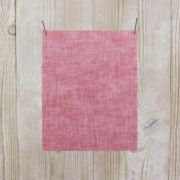 Linen Chambray - Strawberry - buy online at The Fabric Store