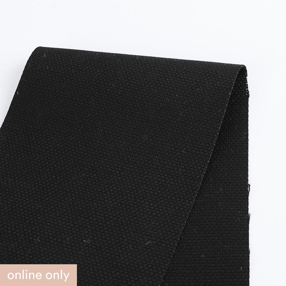 Linen / Cotton Canvas - Black - Buy online at The Fabric Store