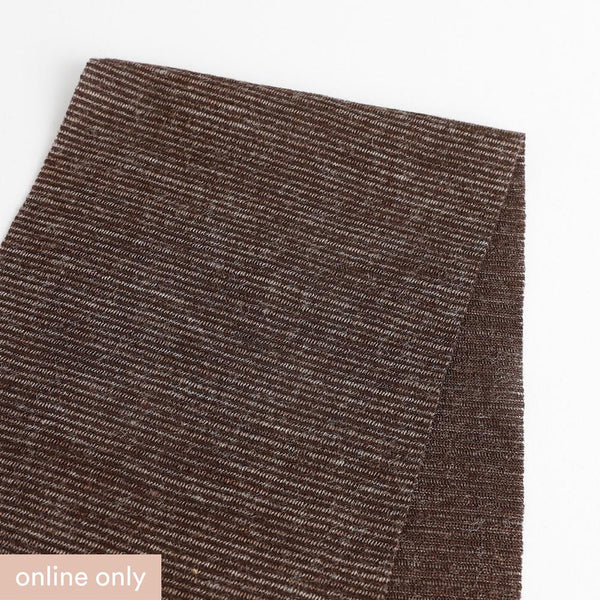 Needle Stripe Merino Blend Jersey - Chocolate ?id=15566988247121