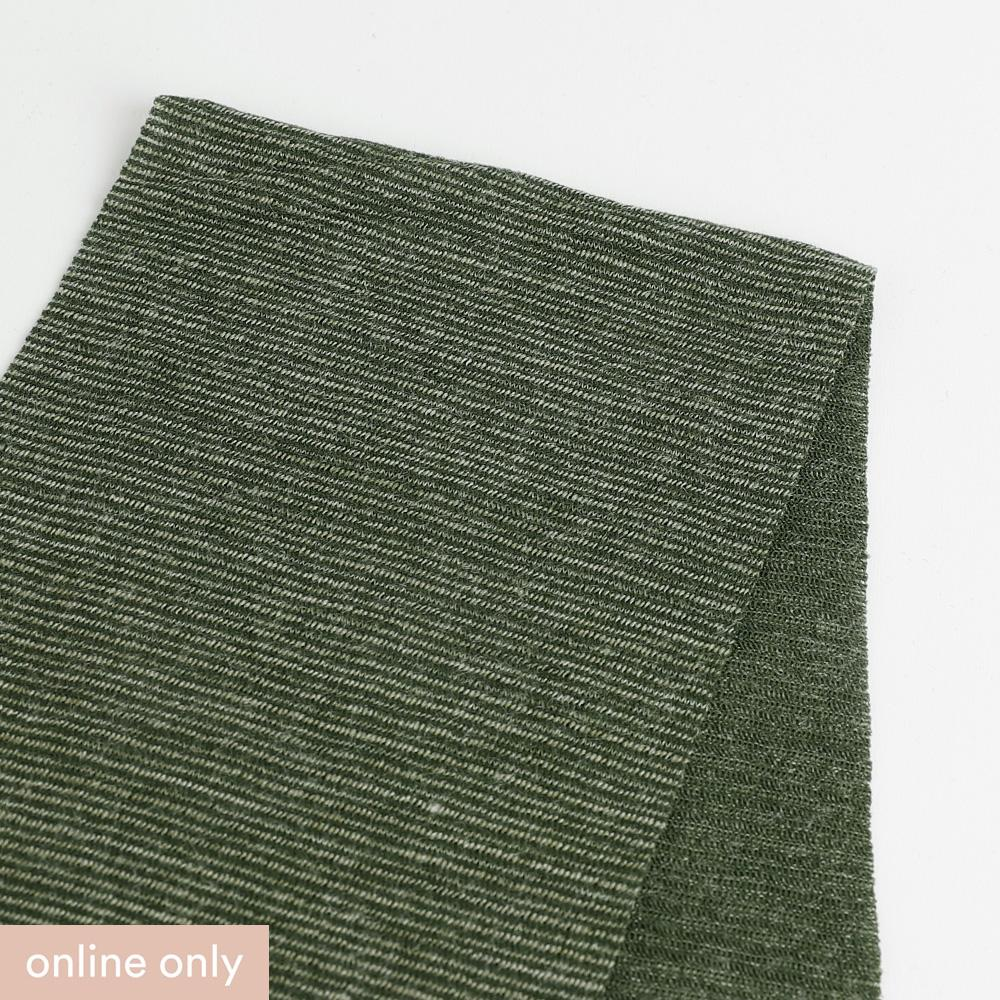 Needle Stripe Merino Blend Jersey - Fern