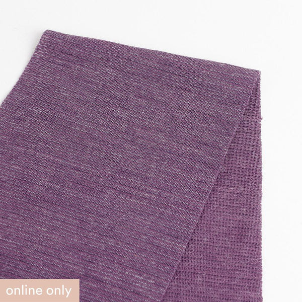 Needle Stripe Merino Blend Jersey - Grape