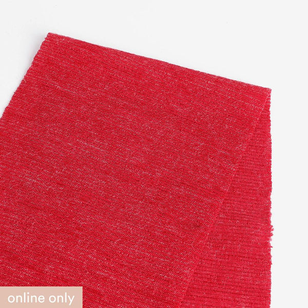 Needle Stripe Merino Blend Jersey - Ruby ?id=15576554405969