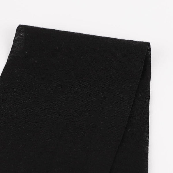 Merino / Poly Single Jersey - Black