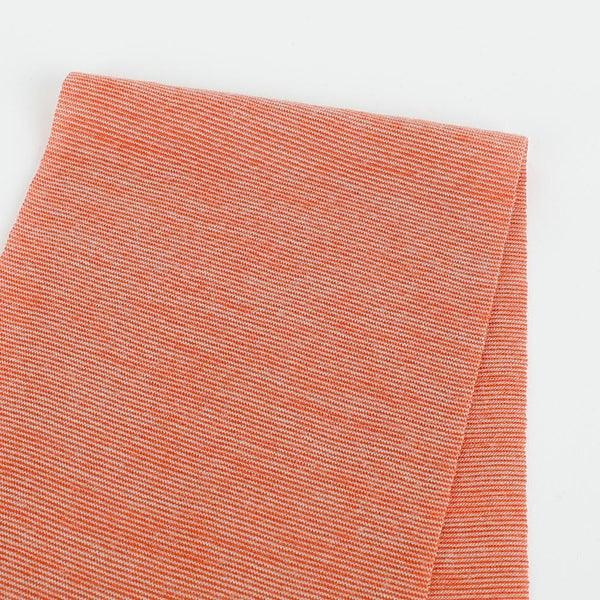 Micro Stripe Merino / Tencel505  Jersey - Orange Jasper