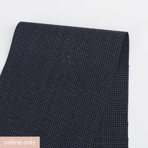Japanese Micro Check Wool Suiting - Marine ?id=27955056312401