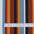 Multi Stripe Viscose Georgette - Ochre / Blue ?id=16140118523985