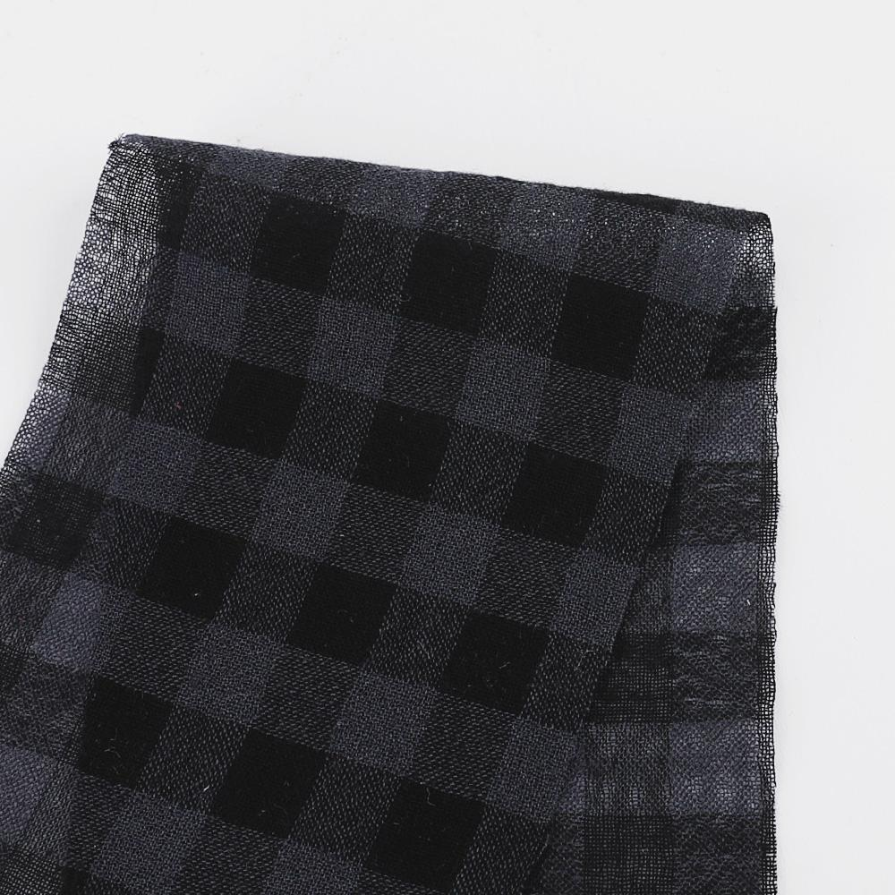 Japanese Gingham Wool / Cotton Gauze - Charcoal ?id=27951261909073
