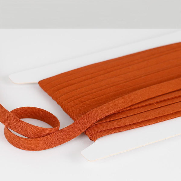 Vintage Finish Linen Bias Binding - Paprika