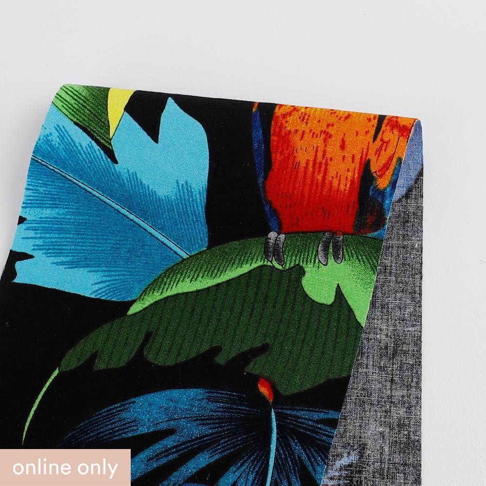 Parrot & Toucan Print Stretch Cotton - Buy online at The Fabric Store ?id=27941935317073
