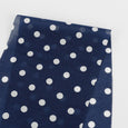Polka Dot Silk / Cotton  Voile - Navy