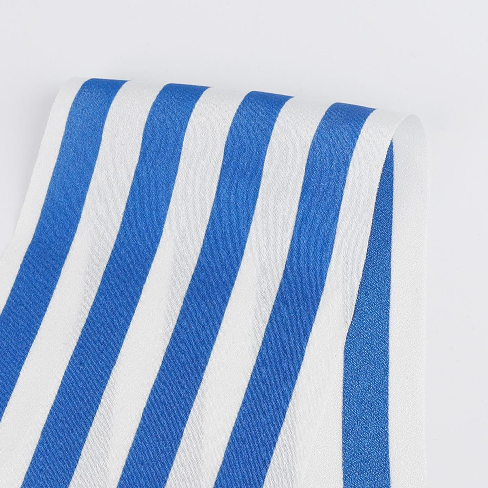 Poly Satin Bengal Stripe - Blue - Buy online at The Fabric Store ?id=16423588659281