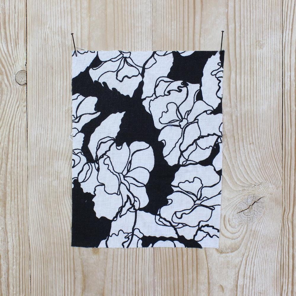 Scribble Floral Print Linen - Black - buy online at The Fabric Store ?id=6956249514065