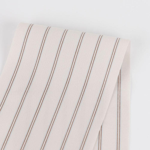 Shadow Stripe Cotton Shirting - Soy