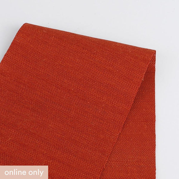 Slubby Linen / Cotton - Burnt Orange