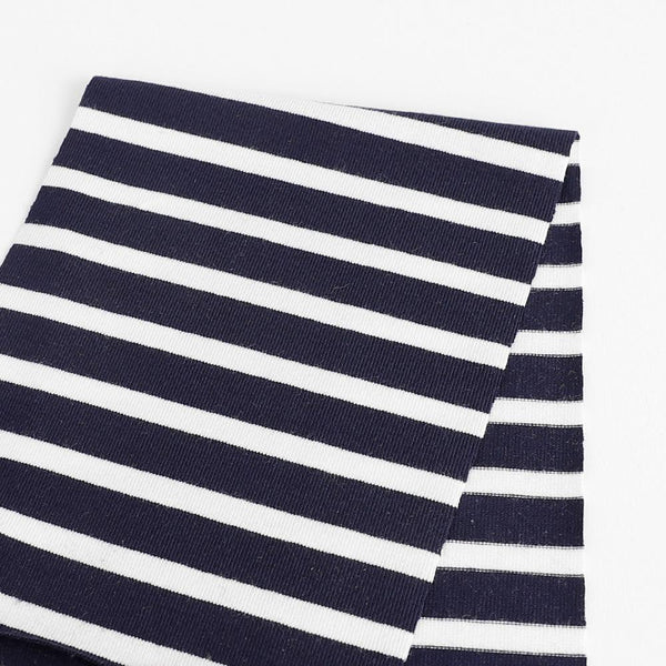 Stretch Bamboo Stripe Jersey - Navy / White ?id=16278062727249