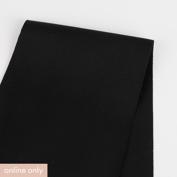 Stretch Cotton / Nylon Suiting - Black