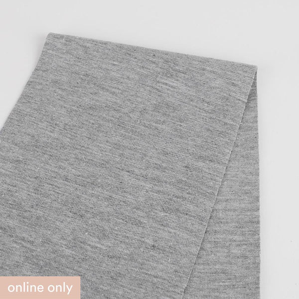 Stretch Poly / Cotton Jersey - Ash Marle