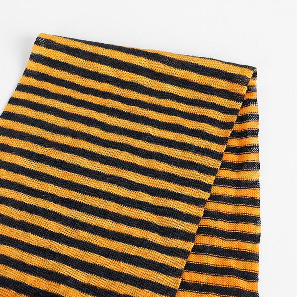 Small Stripe Linen Jersey - Sunflower / Navy