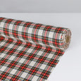 Japanese Wool Blend Tartan - Chalk Mix ?id=27951067725905