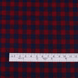 Twill Gingham Cotton - Navy / Red