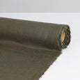 Vintage Finish Linen - Deep Olive - buy online at The Fabric Store