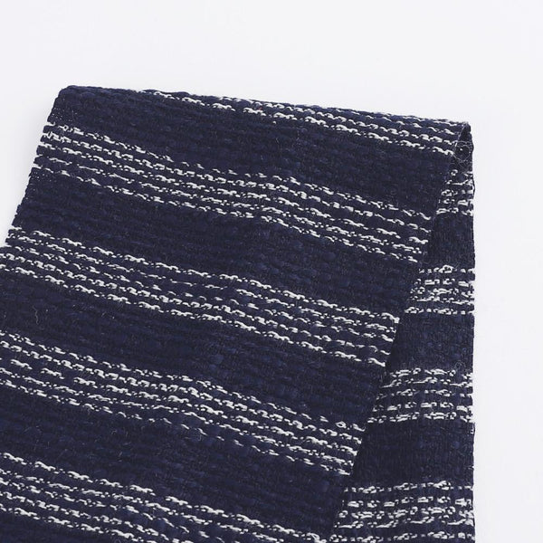 Weft Stripe Tweed - Navy / White - buy online at The Fabric Store ?id=16403599261777