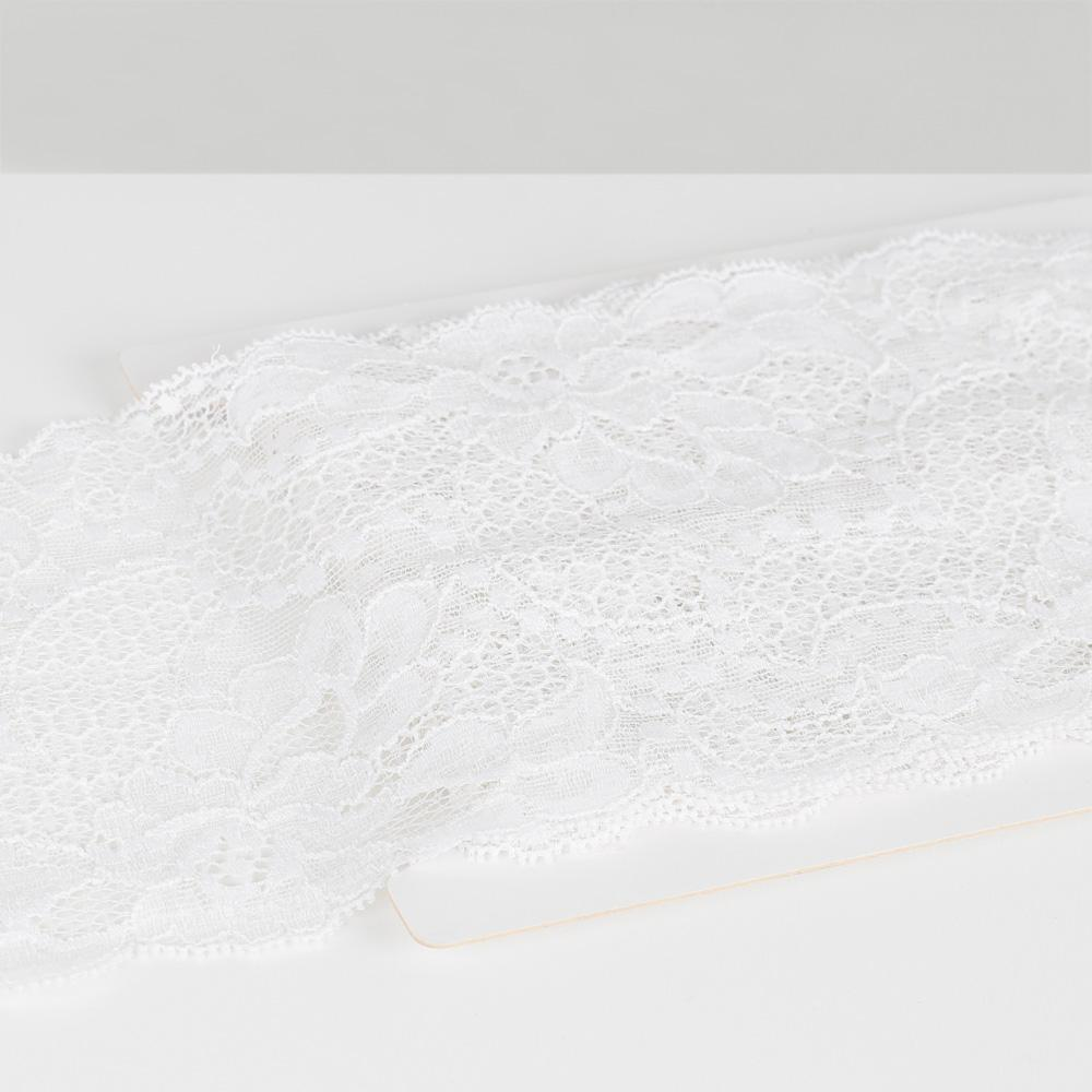Wide French Stretch Lace Trim - Ivory