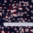 Windswept Bouquet Viscose Twill - Navy