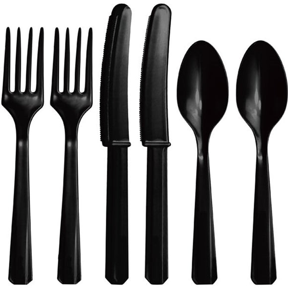 RC 4X4 Cutlery Black 24 Pack