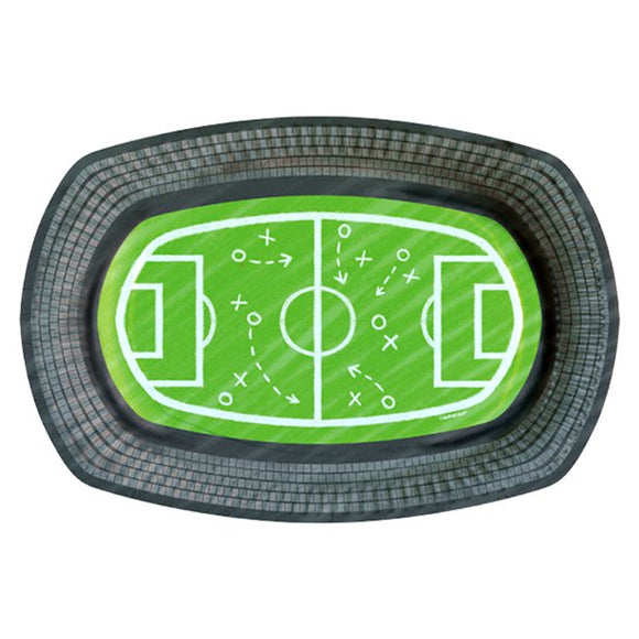 Football Party Serving Tray x6