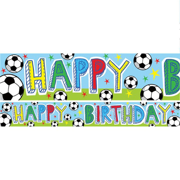 Football Party Banners 1m x3