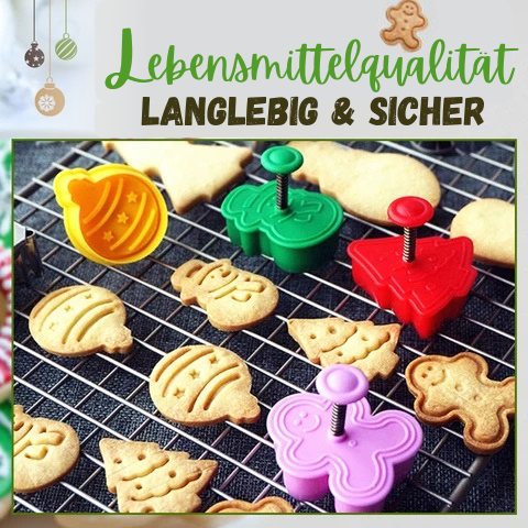 Cookie King™ Pro - 3D-Ausstecherstempel (4 Stück / Set)