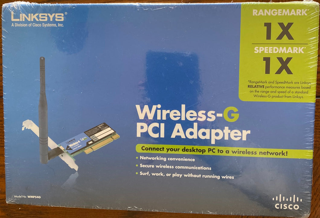 Linksys Wireless-G PCI Adapter (Model No. WMP54G)