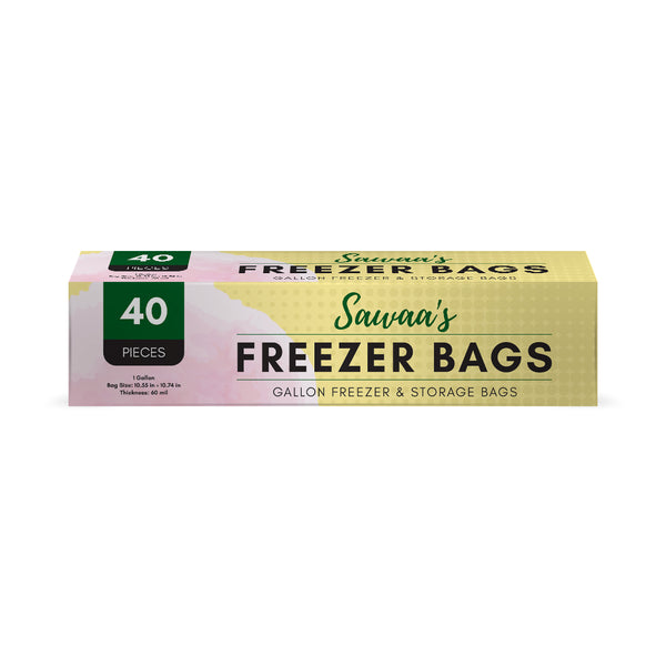 Gallon Freezer Storage Bags, 40 Count - Sawaa's