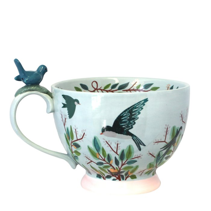 Secret Garden Bird Teacup