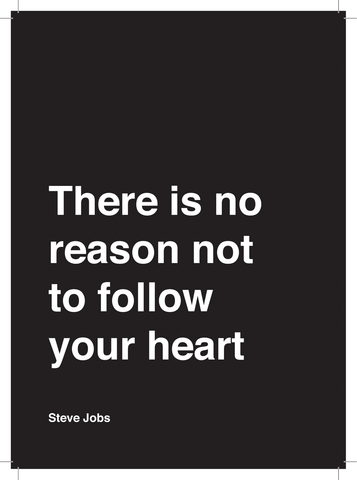 Kaart - No Reason not to follow Your Heart