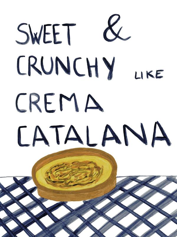 Sweet and chrunchy like creme catalana