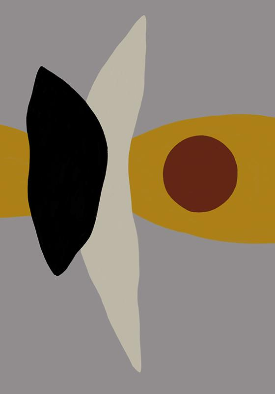 Abstraction with dark red circle