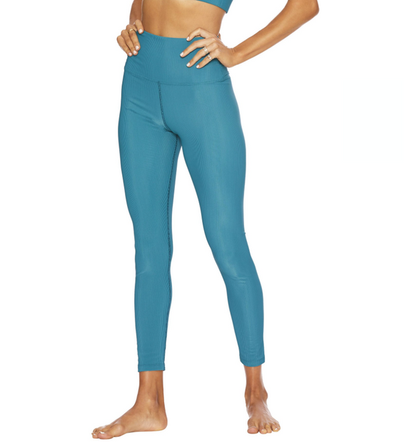 Beach Riot Ribbed Ayla Teal Legging
