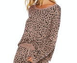 Beach Riot Taupe Spot Sweater